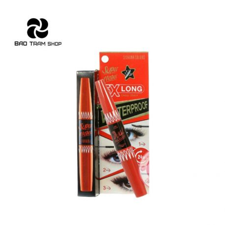 Bảo Trâm Shop - Mascara 2 đầu Sivanna Super Model 5X Long