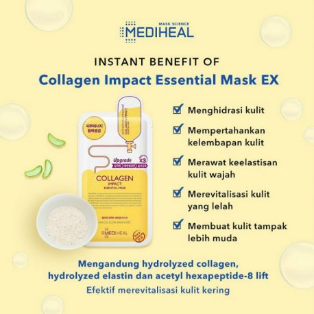 Công dụng Mặt nạ Mediheal Collagen Impact Essential Mask Ex